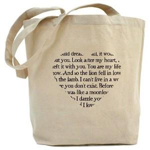 Twilight Romantic Quotes Heart Tote Bag - CafePress