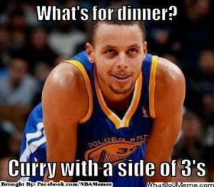 Stephen Curry Serves Dinner Meme