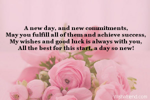 new day, and new commitments,