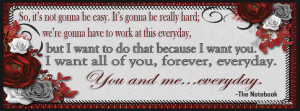 The Notebook Quote Facebook Covers