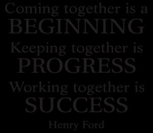 Working Together Is Success Wall Quotes™ Decal