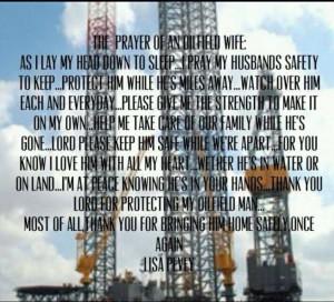 Prayer of an oilfield wife.