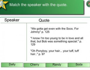 Quotes from The Outsiders - Smart Board