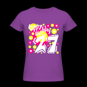 Purple-Birthday-27---Happy-Birthday-Design---Special-pres-Women-s-T ...