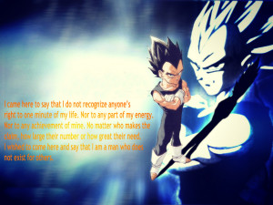 Vegeta with a quote by Jdbz