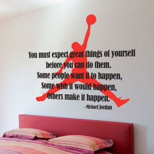 Michael Jordan Typographic Quote - Air Jordan Silhouette Basketball ...