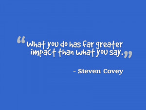 Getting the Greatest Impact quote …