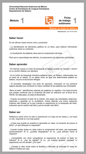 Ficha Trabajo Diario Infantil