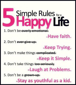 Quotes to Use for Mental Development - Five simple rules for a happy ...