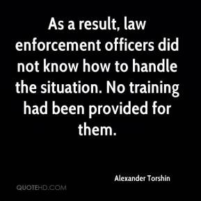 Alexander Torshin - As a result, law enforcement officers did not know ...