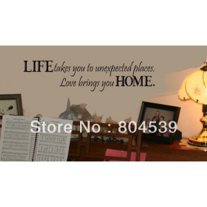 Quote Wall Sticker Vinyl wall quotes love sayings home art decor decal ...