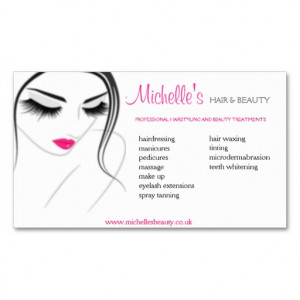 Hair & Beauty salon, business card design from Zazzle.com