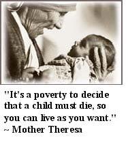 Mother Teresa said: