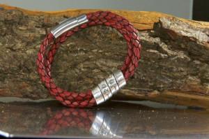 Image of Men's secret message bracelet, leather, metal, quote jewelry ...