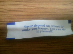 Fortune cookie makes me feel better about masterbation
