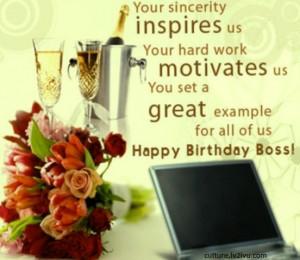 Happy Birthday Wish: Birthday wishes for boss