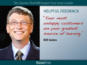 Bill Gates on helpful feedback.
