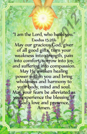 am the Lord Who Heals You - Healing Prayer Card