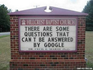 list of funny church signs for finding all last name that fall sayings ...