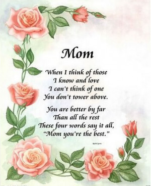 mothers day gift mom poem roses card poster 16 20 with richandframous ...