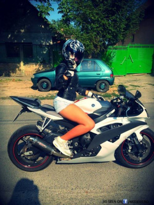 girl, motorbike, motorcycle, r6, swag