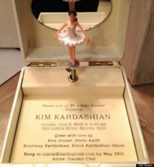 Kim Kardashian's Baby Shower Invite Is The Most Over The Top ...