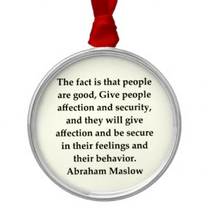 abraham maslow quote christmas tree ornament