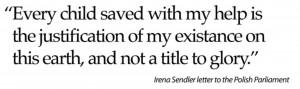 Irena Sendler redde veel Joodse kinderen in de oorlog