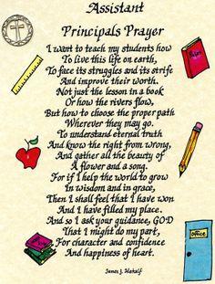 Assistant Principals Prayer 8x10 Handwritten Calligraphy Occupational ...