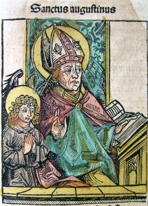 Image of Augustine from the Nuremberg Chronicles. Beloit College.