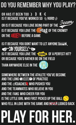 ... Fastpitch Softball and I had to share it with you. Hope you like it