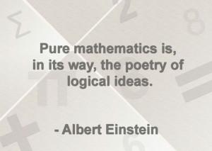 Quote about math by Albert Einstein