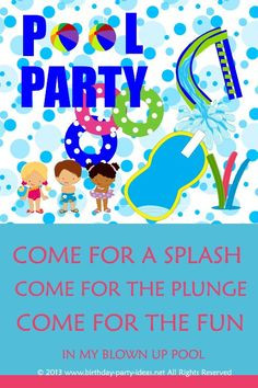 ideas to make your pool birthday party go swimmingly. #party #birthday ...