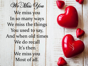 Funeral Quote We Miss You
