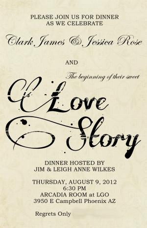Wedding Rehearsal Dinner}Literary Love Theme