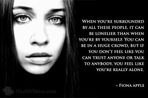 fiona apple mental health quote Major Depression, Social Anxiety ...