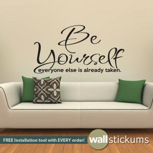 living-room-wall-decal-quoteswall-decal-quote-be-yourself-living-room ...