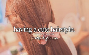 Bow & Long Hair & Ginger Hair & Quote
