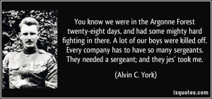 Alvin C York Quotes