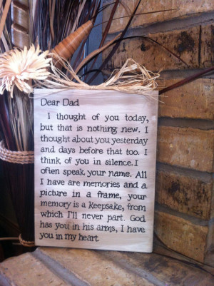 Dad Memorial plaque by OverwhelmedByLove on Etsy, $23.00 is creative ...