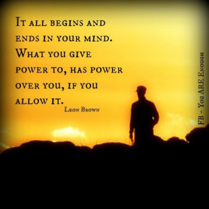 end your mind games with yourself