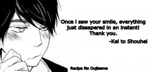... this image include: cap, cute, manga, anime quotes and manga quotes