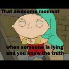 people lie