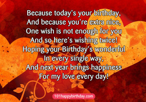 Birthday Wishes Quotes for Girlfriend best wishes