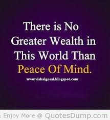 Famous Peace of Mind Quotes with Images - Picture - Photos - There is ...