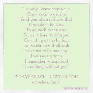 Quotes- 3 Days Grace