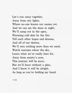 Let's run away. A guy who's also your best friend