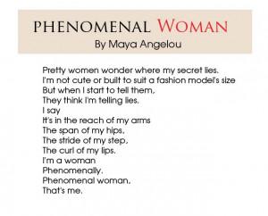 Maya Angelou Quotes About Strong Women | Phenomenal-woman-Maya-Angelou ...