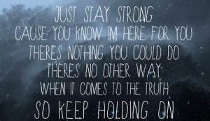 Keep Holding On Lyrics