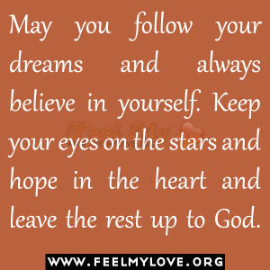 keep believing in yourself and your dreams pdf